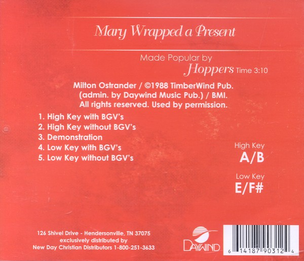 Mary Wrapped A Present, Accompaniment CD
