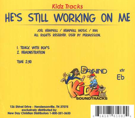 He's Still Working on Me, Accompaniment CD