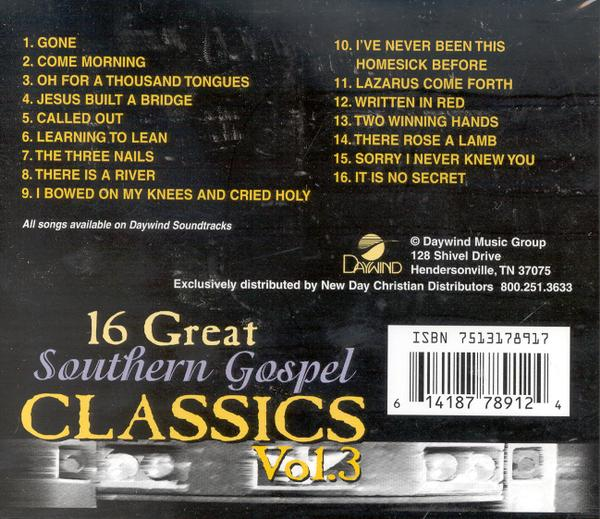 16 Great Southern Gospel Classics, Volume 3 CD