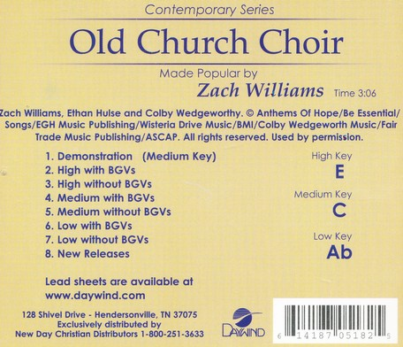 Old Church Choir, Accompaniment Track