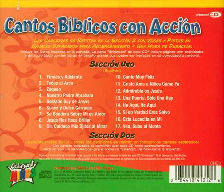 Cantos B&#237blicos con Acci&#243n  (Action Bible Songs), CD