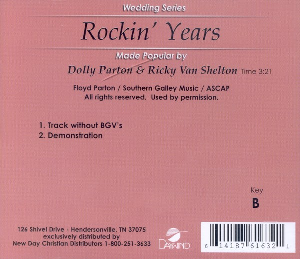 Rockin' Years, Accompaniment CD