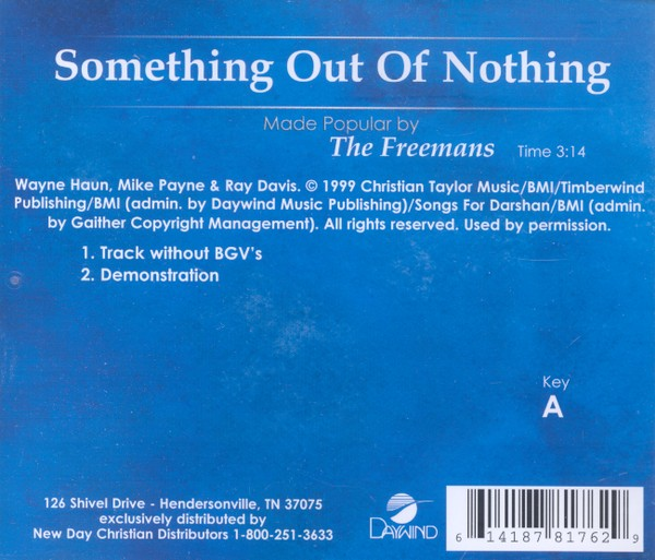Something Out of Nothing, Acc CD