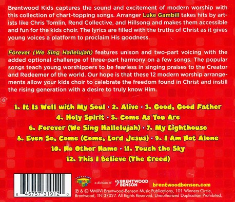 Forever - We Sing Hallelujah, Worship Together Kid's Collection Vol  2  (Listening CD)