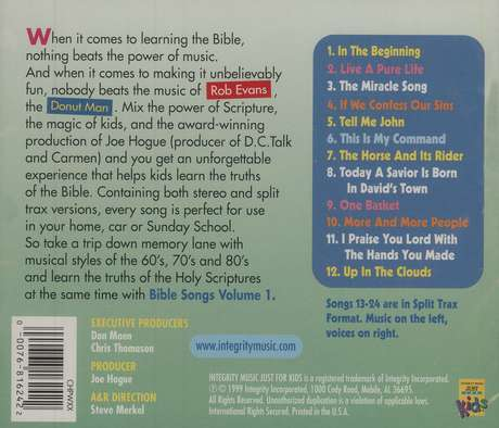 Bible Songs Volume 1, Compact Disc [CD]
