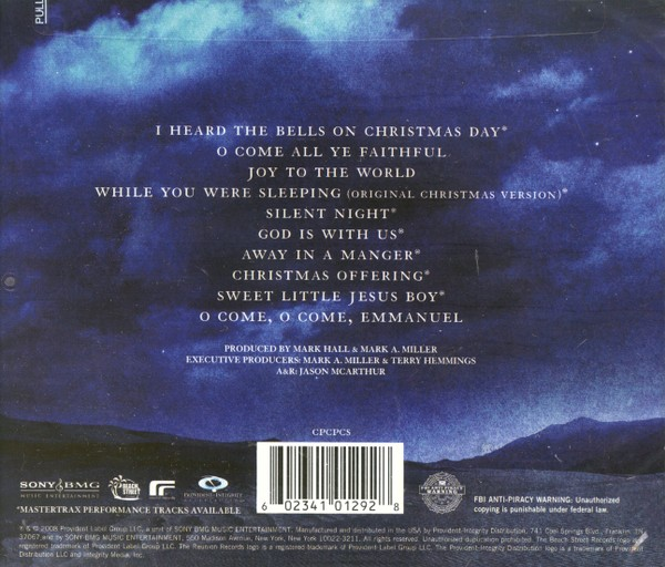 Casting Crowns Christmas.Peace On Earth Cd