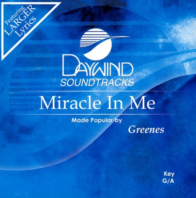 Miracle In Me, Accompaniment CD