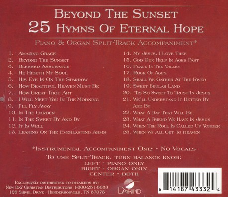 Beyond The Sunset, Split-Track Acc CD