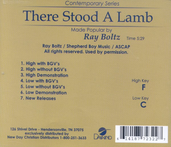 There Stood A Lamb, Accompaniment CD