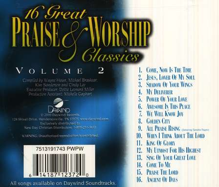 16 Great Praise & Worship Classics, Volume 2 CD