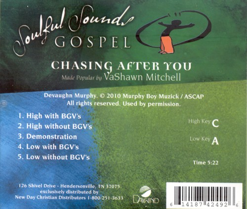 Chasing After You, Accompaniment CD