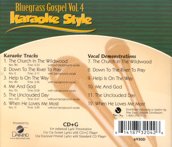 Bluegrass Gospel Volume 4, Karaoke Style CD