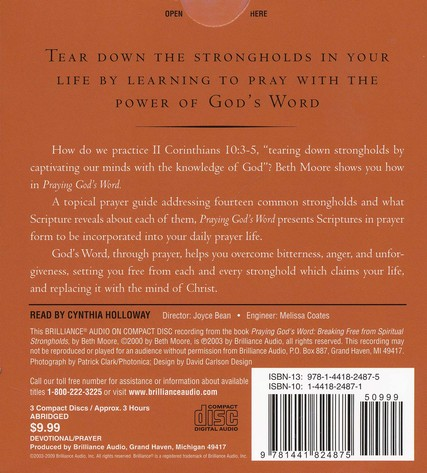 Praying God's Word: Breaking Free from Spiritual Strongholds, Abridged Audiobook