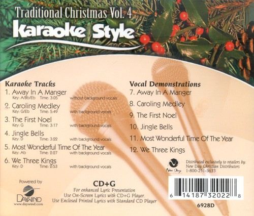 Christmas Karaoke Cd.Traditional Christmas Volume 4 Karaoke Style Cd