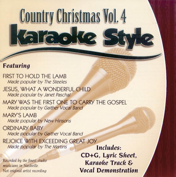 Country Christmas, Volume 4, Karaoke Style CD