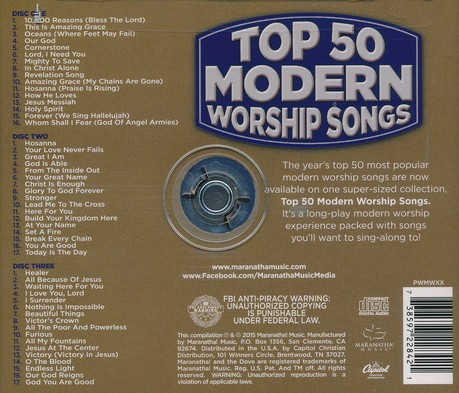 Top 50 Modern Worship Songs 2015