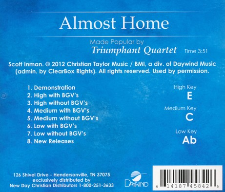 Almost Home Acc, CD