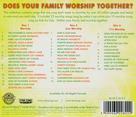 Worship For Your Family (Yellow) 3 CD's