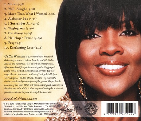 For Always: The Best of CeCe Winans CD