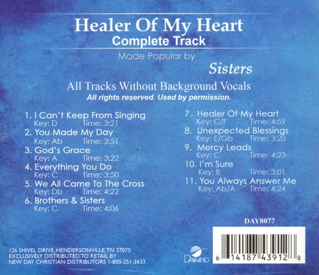 Healer of My Heart, Acc CD