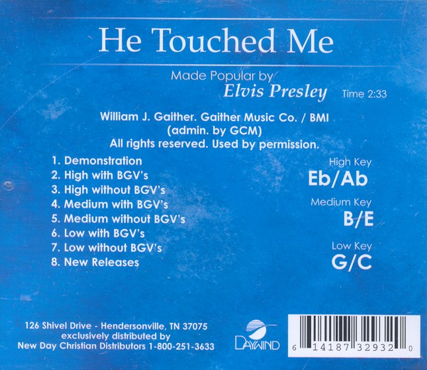 He Touched Me, Acc CD