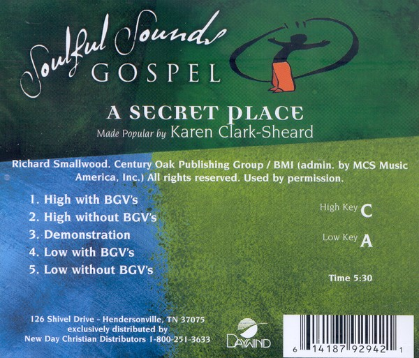A Secret Place, Accompaniment CD