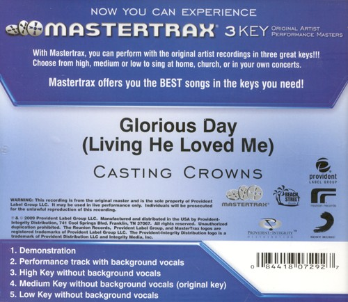 Glorious Day (Living He Loved Me), Acc CD