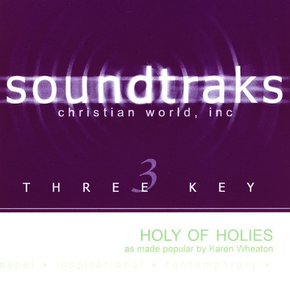 Holy Of Holies, Accompaniment CD