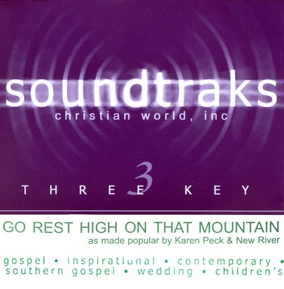 Go Rest High On That Mountain, Accompaniment CD