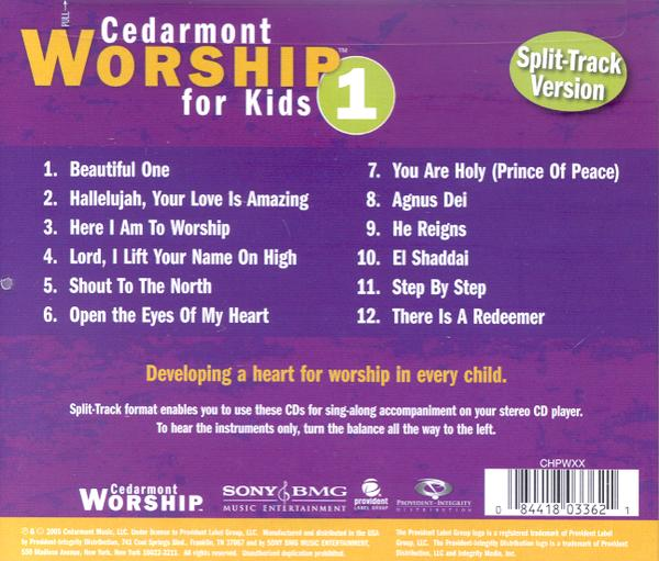 Cedarmont Worship for Kids: Volume 1 (with Split Tracks), CD