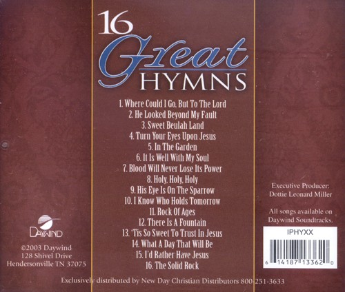 16 Great Hymns CD