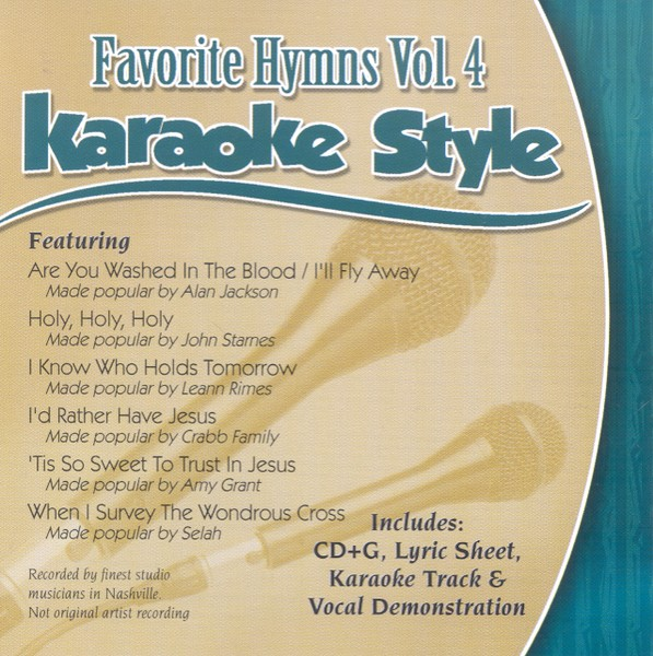 Favorite Hymns, Vol. 4, Karaoke CD