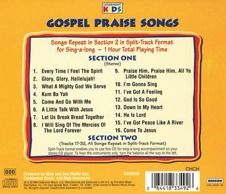 Gospel Praise Songs, Compact Disc [CD]
