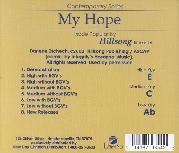 My Hope, Accompaniment CD