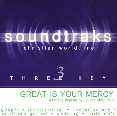 Great Is Your Mercy, Accompaniment CD