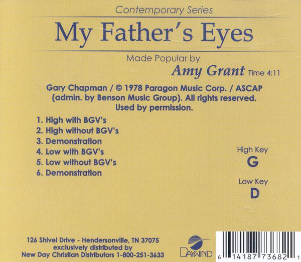 My Father's Eyes, Acc CD