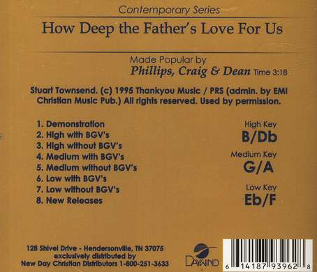 How Deep the Father's Love, Acc CD