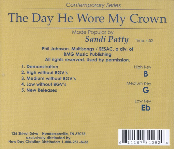 The Day He Wore My Crown, Acc CD