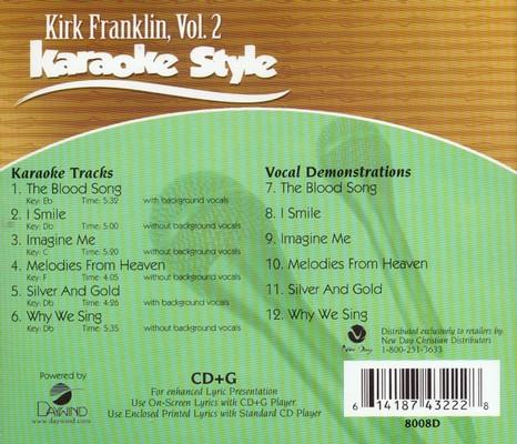 Kirk Franklin, Vol  2, Karaoke CD