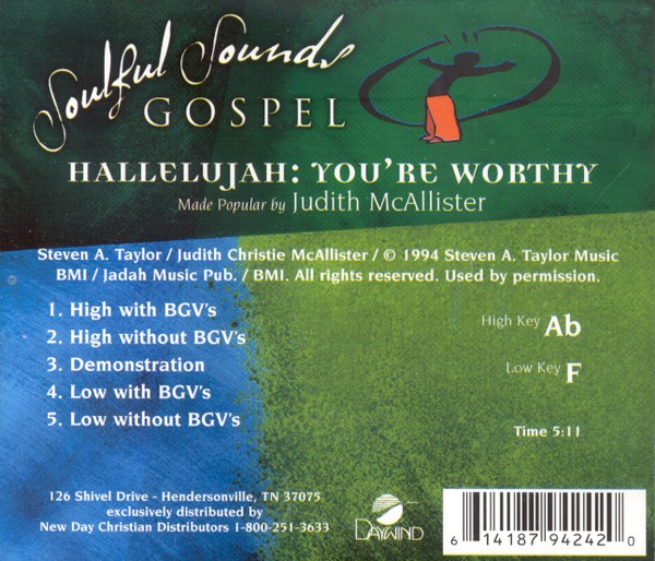 Hallelujah, You're Worthy, Accompaniment CD
