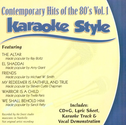Contemporary Hits of the 80's,  Volume 1, Karaoke Style CD