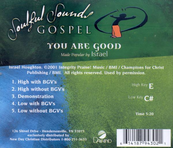 You Are Good, Accompaniment CD
