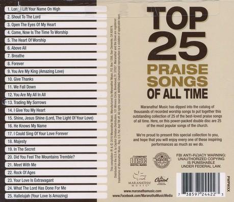 top 25 praise songs all time maranatha music christianbook com