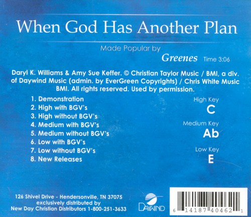 When God Has Another Plan, Acc CD