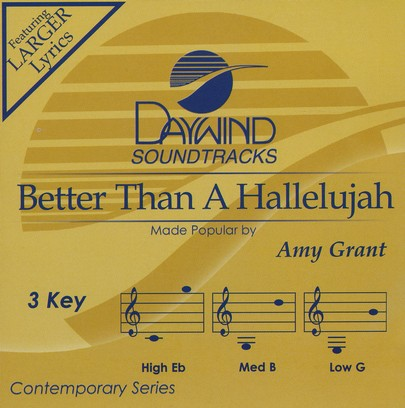 Better Than A Hallelujah, Accompaniment CD