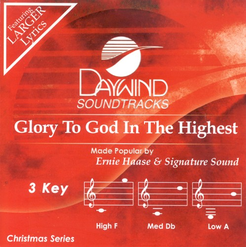 Glory to God in the Highest, Accompaniment CD