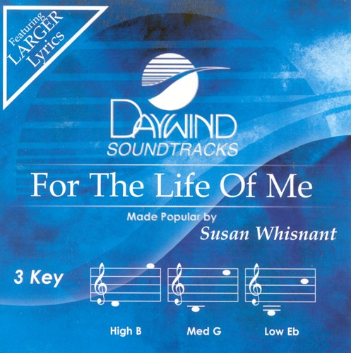 For The Life Of Me, Accompaniment CD