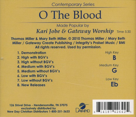 O The Blood, Acc CD