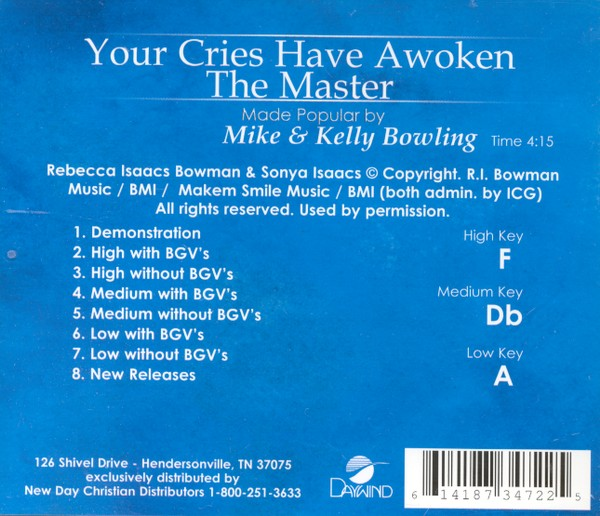 Your Cries Have Awoken the Master, Acc CD