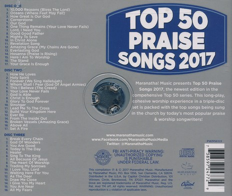 Top 50 Praise Songs, 2017